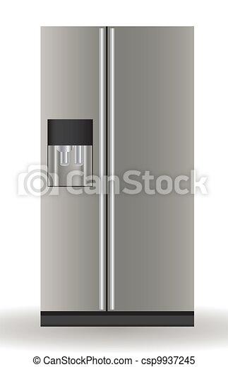 Illustration of a refrigerator - csp9937245