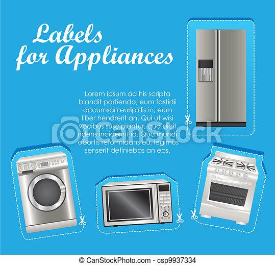 Appliances labels - csp9937334
