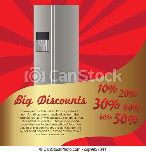 Illustration of a refrigerator - csp9937341