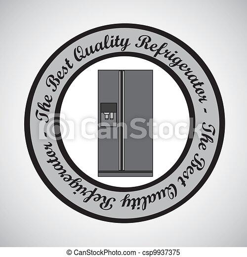 Illustration of a refrigerator - csp9937375