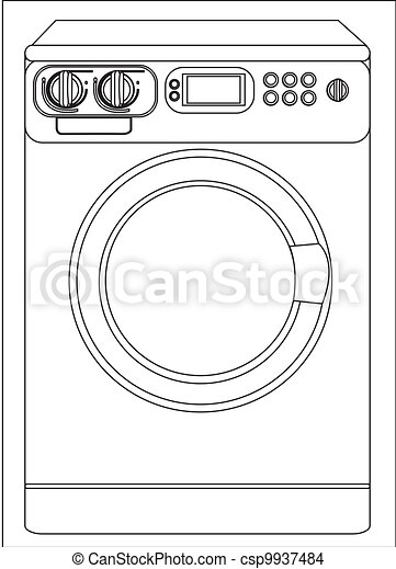 Illustration of a washing machine - csp9937484