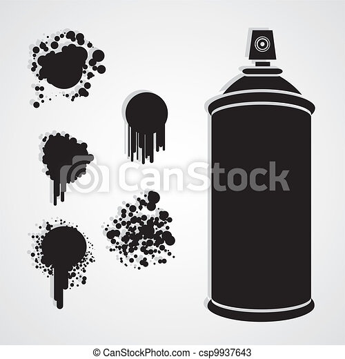 Spray Paint Drawings Silhouette Spray Bottle