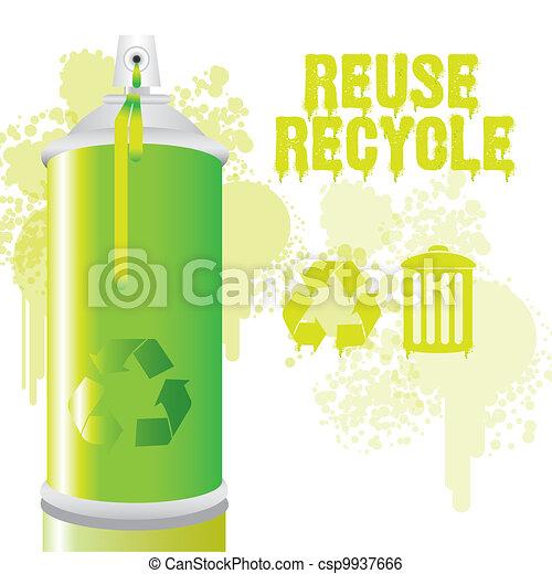Spray bottle green - csp9937666