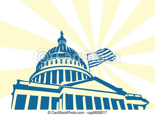 Vectors Illustration Of Usa Capitol Us Capitol Building