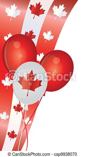 Happy Canada Day Balloons Illustration - csp9938070