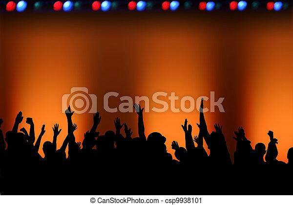 Rock Concert Fans - csp9938101