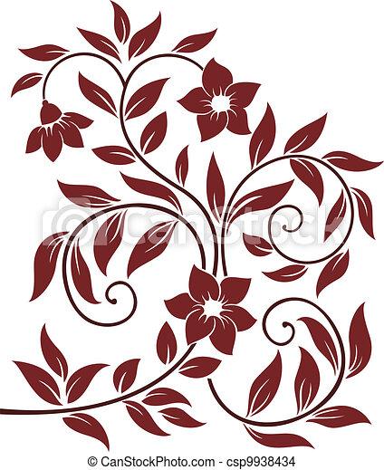 Decorative floral background - csp9938434