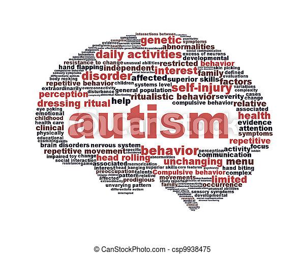 Autism symbol design isolated on white  - csp9938475