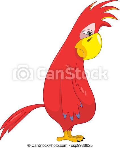 Funny Parrot. Sad. - csp9938825