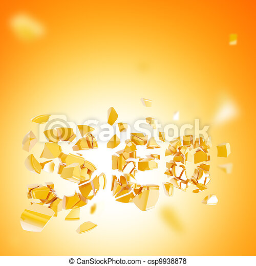 Failed SEO abstract composition background - csp9938878