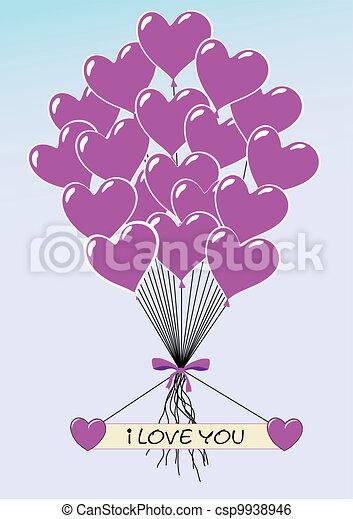 Heartballoons I Love You-Vector-EPS - csp9938946