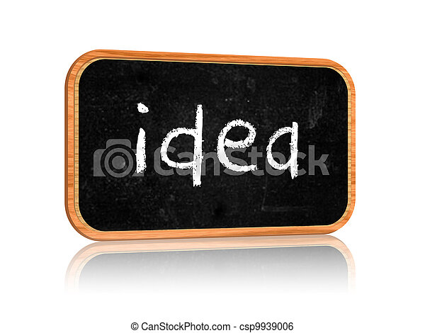 idea on blackboard banner - csp9939006