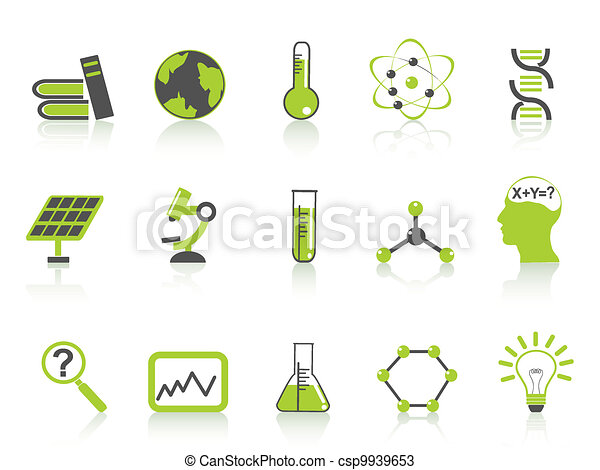 simple science icons set,green series - csp9939653