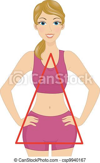 Triangle Body Shape - csp9940167