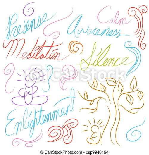 Meditation Symbol Set - csp9940194