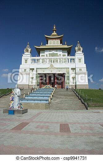 Architecture in Elista, Kalmykia, Russian Federation - csp9941731