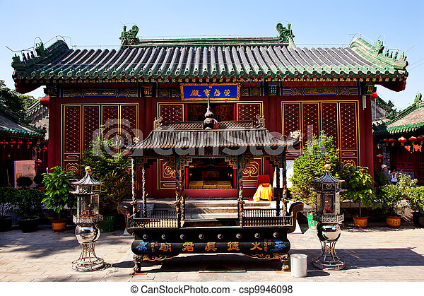 Guanghua Buddha Temple Incence Burner Beijing China - csp9946098