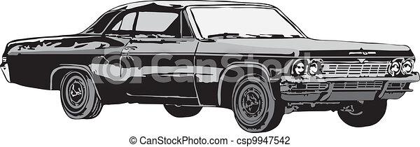 The sport car and retro car - csp9947542