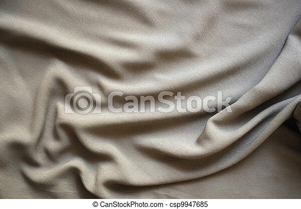 Gray silk drape - csp9947685