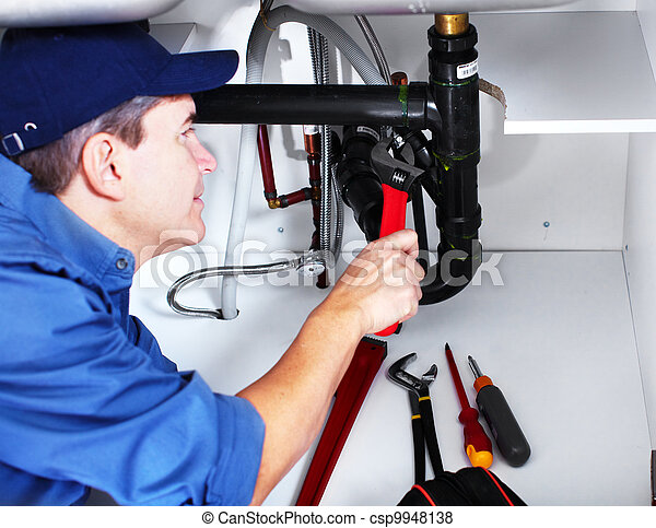 Professional plumber. - csp9948138