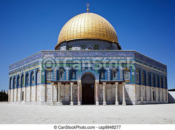 Golden dome of Jerusalem - csp9948277