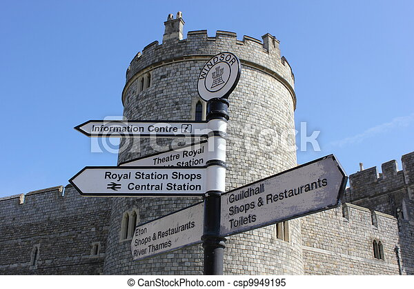 Sign post at windsor castle - csp9949195