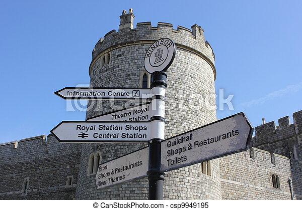 Sign post at windsor castle - csp9949195