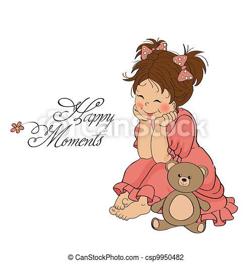 little baby girl - csp9950482