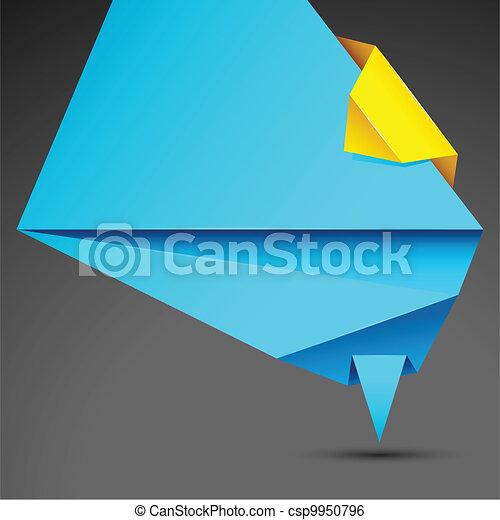Origami Background - csp9950796