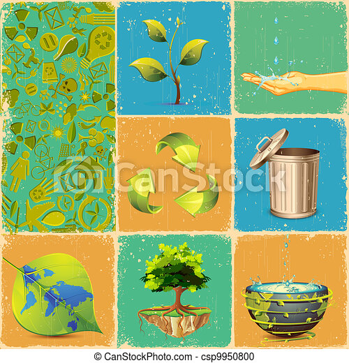 Recycle Collage - csp9950800