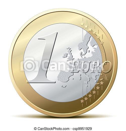 One Euro coin - csp9951929