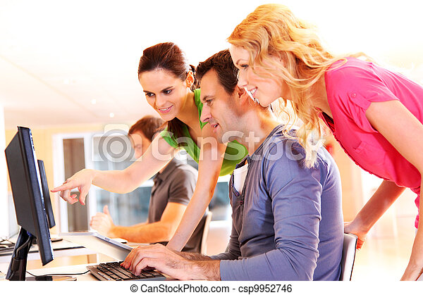 Students in computing training class - csp9952746