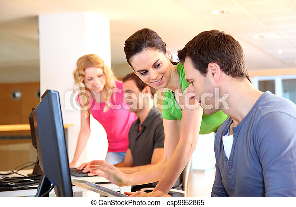 Students in computing training class - csp9952865