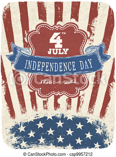 Independence Day Celebration Poster. Vector illustration, EPS 10 - csp9957212