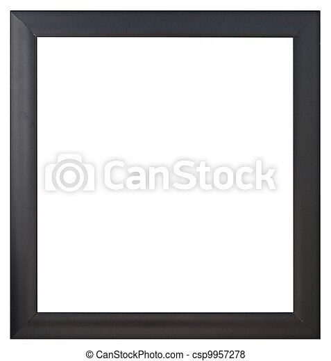 A black  picture frame, isolated  - csp9957278