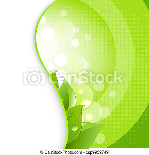 Green Leaves On Natural Background - csp9959749