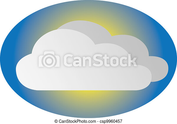 Cloudy icons - csp9960457