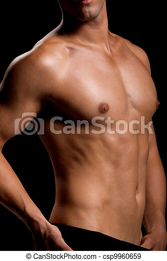 Healthy muscular young man - csp9960659