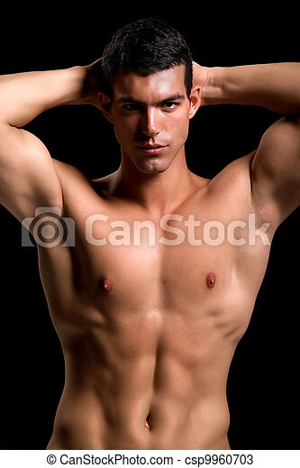 Healthy muscular young man - csp9960703