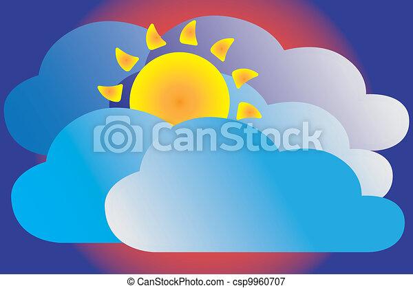 Cloudy icon - csp9960707
