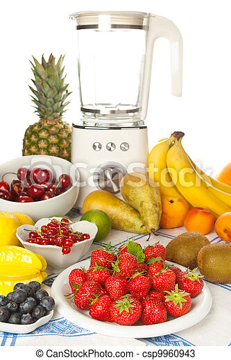 Fruit table with blender - csp9960943