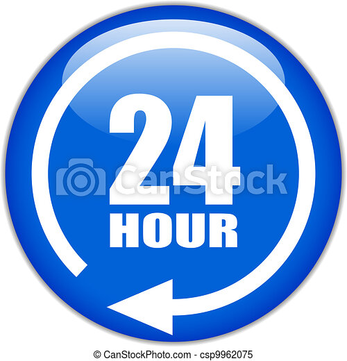 Vector sign twenty four hour - csp9962075