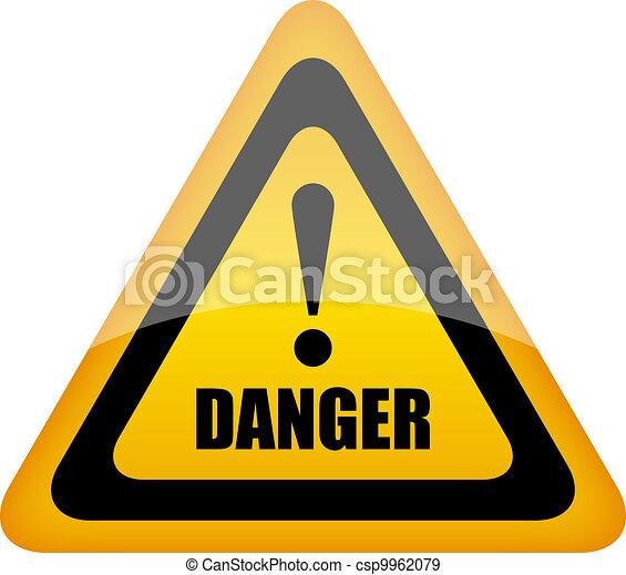 Vector danger sign - csp9962079