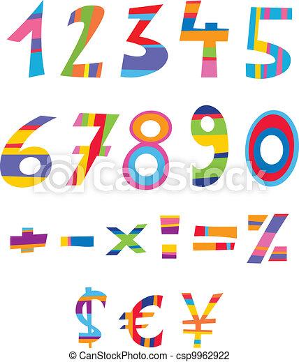Fun numbers - csp9962922