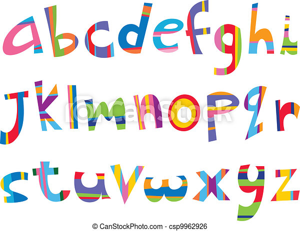 Lower case fun alphabet - csp9962926
