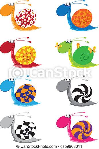 snail funny set - csp9963011