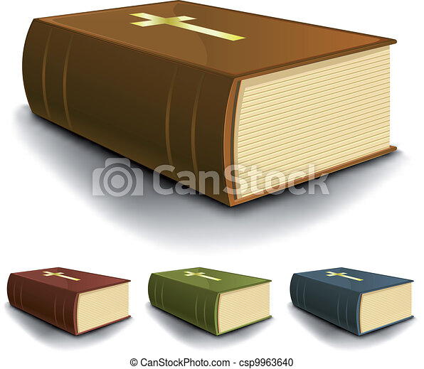 Big Old Holy Bible Books Set - csp9963640