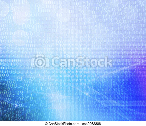 Binary Blue Abstract Background - csp9963888