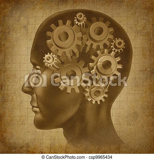 Brain Function Grunge Concept - csp9965434
