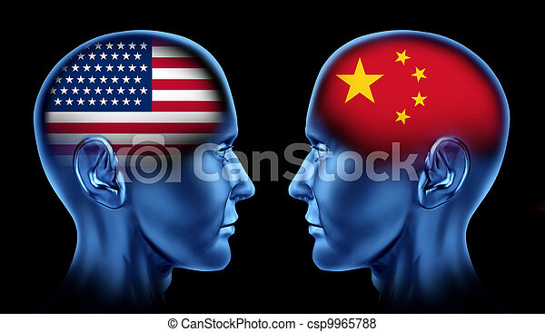 American and China trade - csp9965788